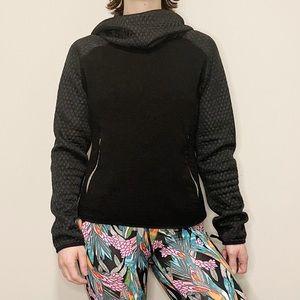 Nike Hoodie Black Quilted Cowl Sweater Activewear